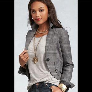 CABI Counsel Cropped Plaid Jacket NWT Sz 4